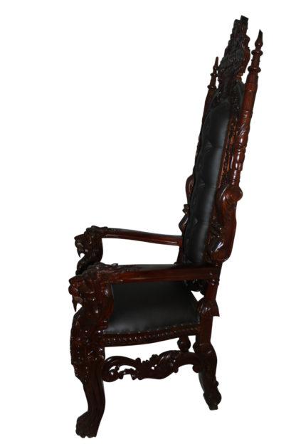 """Brown Lion Chair -  Size: 70""""L x 36""""W x 26""""H."""