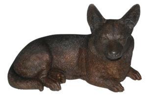 "Corgi dog Bronze Statue -  Size: 20""L x 10""W x 11.5""H."