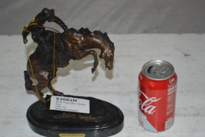 "Bronco Buster by Remington Bronze Statue -  3"" x 7"" x 10""H."
