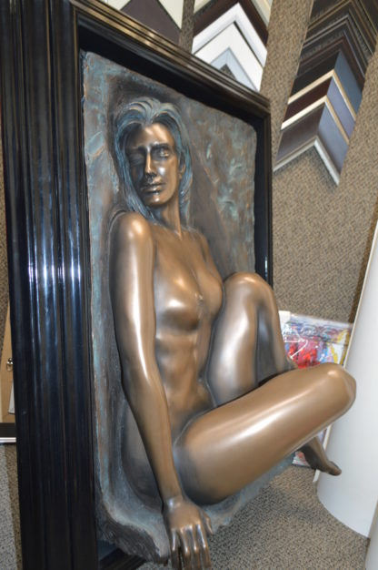"""Bill mack Dimensional Adorned Bonded Bronze -  Size: 25""""L x 37""""W x 10""""H."""