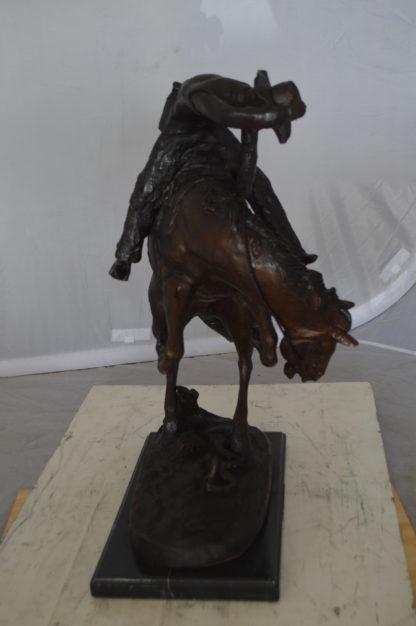 """Rattlesnake by Remington Bronze Statue -  Size: 16""""L x 13""""W x 22""""H."""