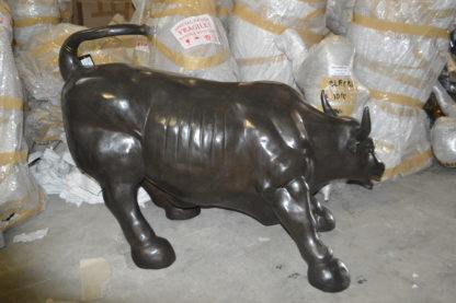 """Wall street Bull - large Bronze Statue -  Size: 22""""L x 50""""W x 33""""H."""