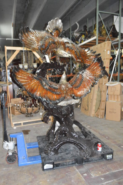 "Two Eagles Fighting -Giant Bronze Statue -  Size: 64""L x 44""W x 92""H."