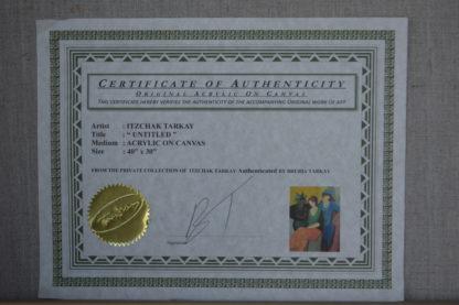 "Tarkay painting, Limited Edition, Original Mixed Media -  41""x 49"""