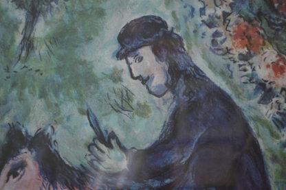 """Sur la Route du Village by Marc Chagall Limited Ed. Lithograph -  40""""x 34""""x 2"""""""
