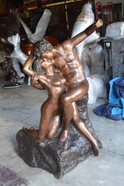 """The kiss by Rodin Bronze Statue replica -  Size: 36""""L x 28""""W x 62""""H."""