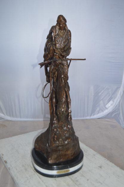 """Mountain Man by Remington Bronze Statue -  Size: 11""""L x 11""""W x 32""""H."""