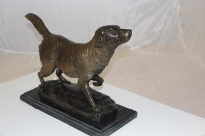 "Labrador Dog Bronze Statue -  Size: 20""L x 8""W x 14""H."