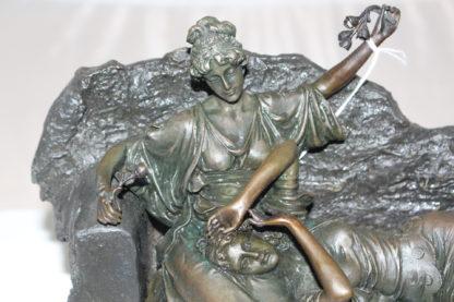 "Two ladies Bronze Statue -  Size: 14.5""L x 7""W x 9""H."