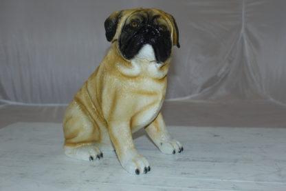"Pug Dog Bronze Statue -  Size: 12""L x 6""W x 11""H."