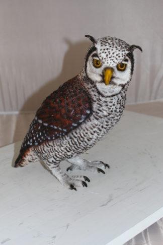 """Owl Bronze Statue -  Size: 12""""L x 6""""W x 12""""H."""