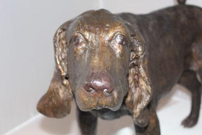 """Hound dog Bronze Statue -  Size: 38""""L x 12""""W x 26""""H."""
