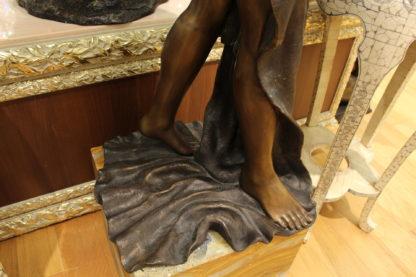 "Beautiful Women Holding Drape Bronze Statue -  Size: 22""L x 18""W x 49""H."