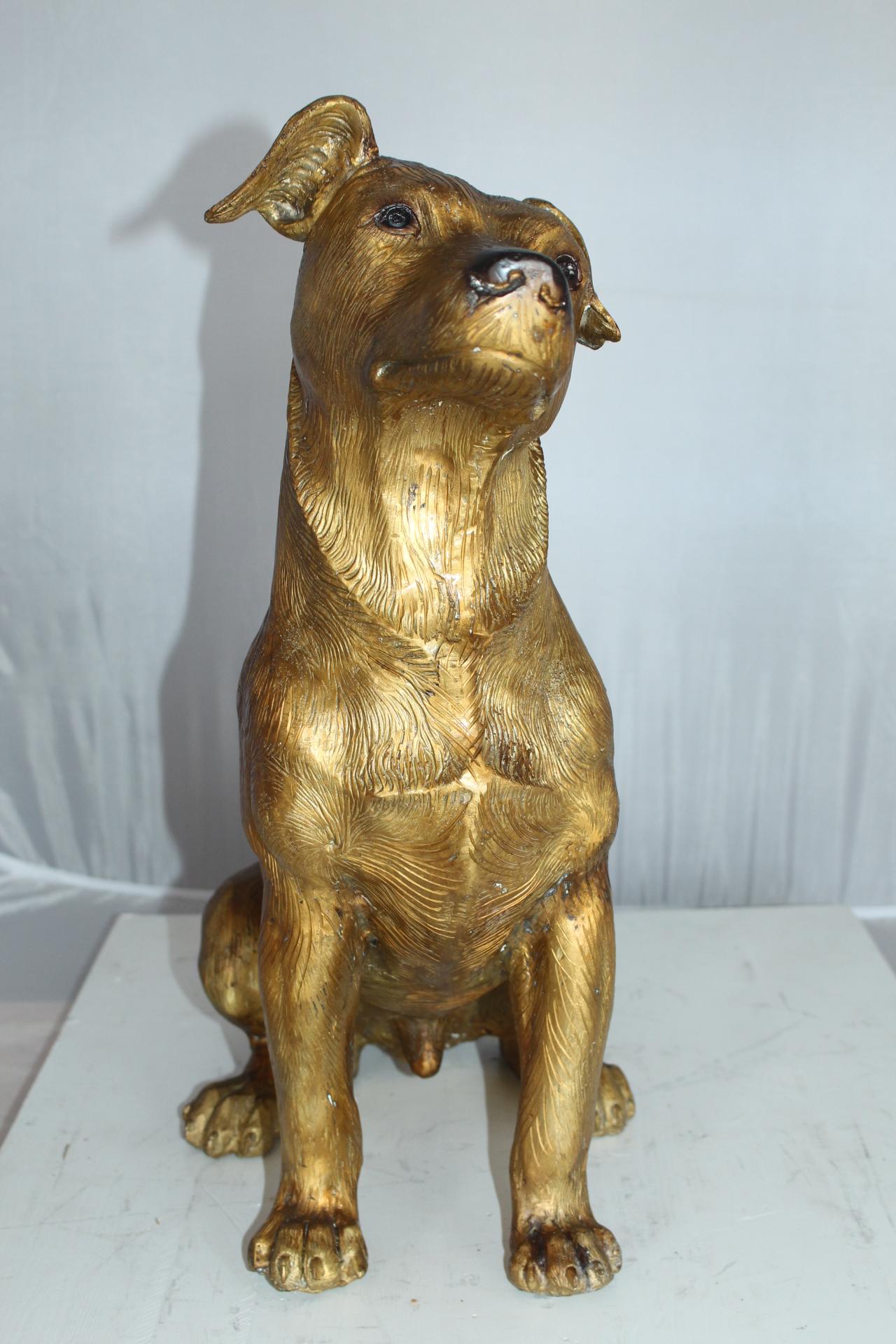Jack Russell Dog Bronze Statue Size 22 L X 8 W X 20 H Nifao