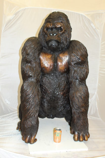 """King Kong Bronze Statue -  Size: 32""""L x 28""""W x 49""""H."""