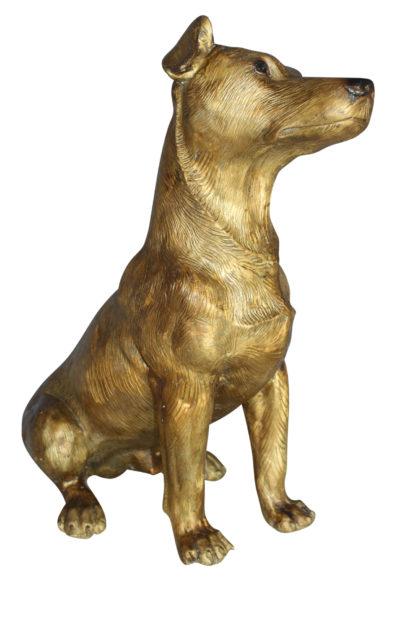 "Jack Russell Dog Bronze Statue -  Size: 22""L x 8""W x 20""H."