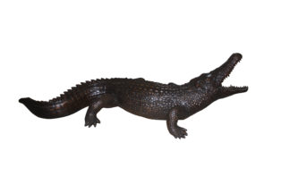 "Alligator fountain - Bronze Statue -  Size: 77""L x 34""W x 18""H."