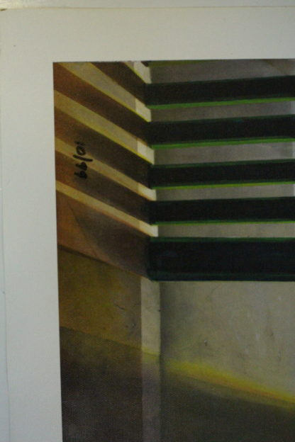 "Orlando Quevedo Giclée women watching water Painting -  Size: 21""L x 13.5""W"