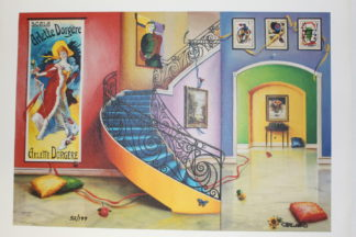 """Orlando Quevedo Giclée - Moments with You Painting -  Size: 21""""L x 13.5""""W"""