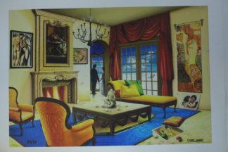 "Orlando Quevedo Giclée - Love Story Painting -  Size: 21""L x 13.5""W"