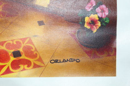 "Orlando Quevedo Giclée - Lady in Venice Painting -  21""L x 13.5""W"