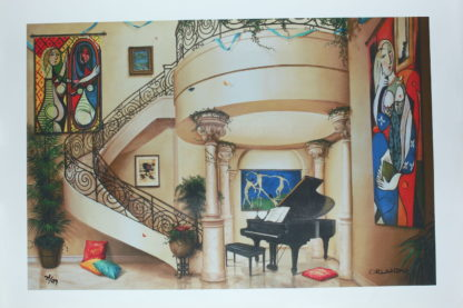 """Orlando Quevedo Giclée - In The Mood For Love Painting -  Size: 21""""L x 13.5""""W"""