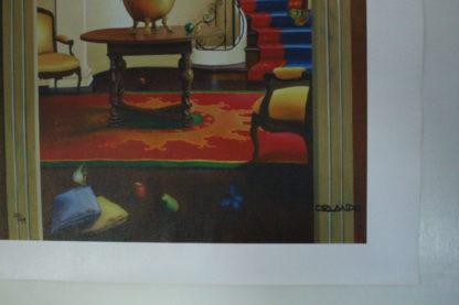 "Orlando Quevedo Giclée - Happiness Painting -  Size: 21""L x 13.5""W"