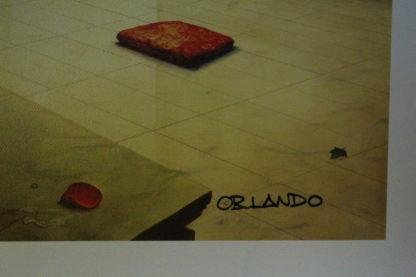 "Orlando Quevedo Giclée ""Day of Love IV"" Painting -  Size: 21""L x 13.5""W"