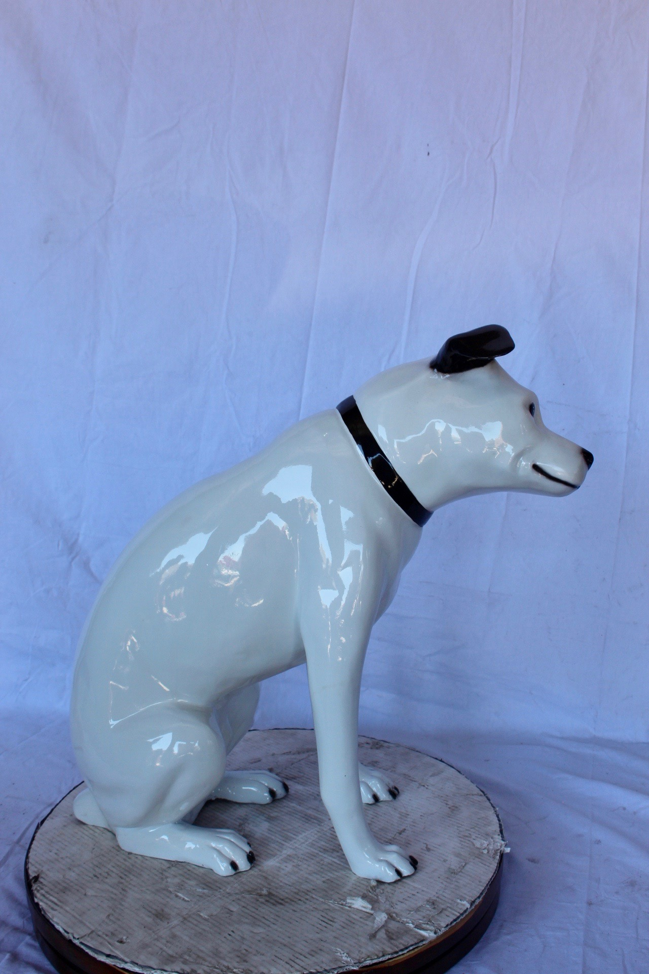 Jack Russel Terrier Dog Bronze Statue Size 25 L X 11 W X 26 H Nifao