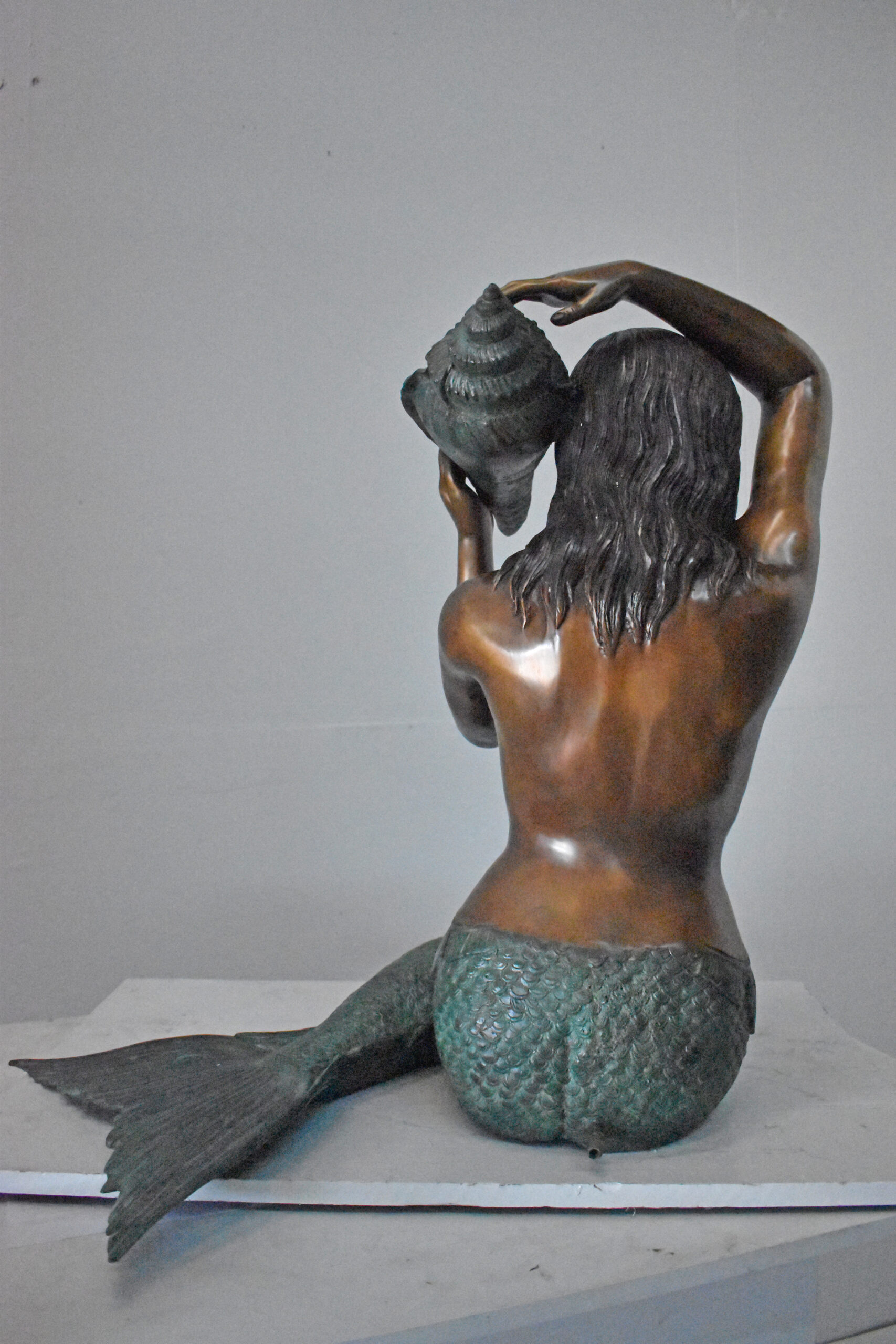 Home Garden Decor Life Size Cast Bronze Young Nude Lady